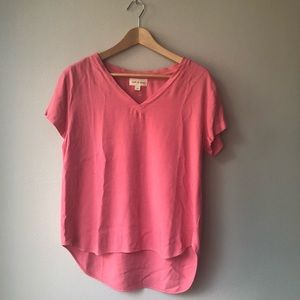 Anthropologie Cloth & Stone V Neck Pink Top. NWOT.